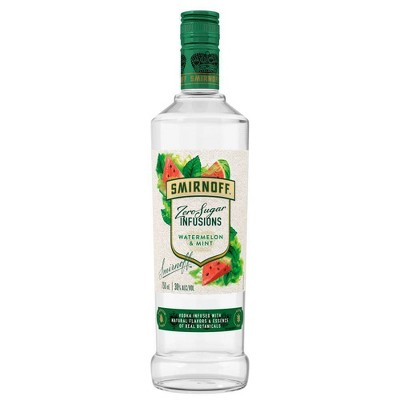 Smirnoff Zero Sugar Infusions Watermelon Mint Vodka - 750ml Bottle