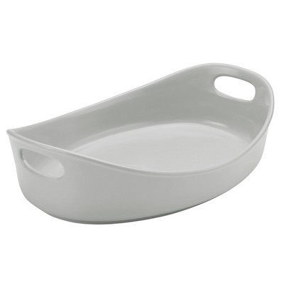 Rachael Ray 4.5qt Stoneware Bubble and Brown Oval Baker
