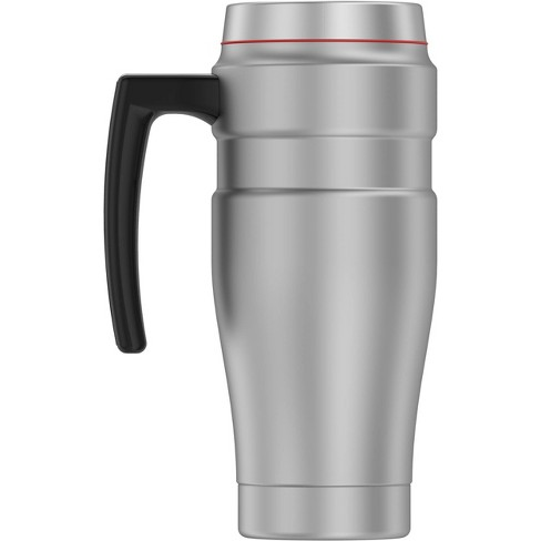 Travel Mug Steel Matte Thermos Stainless King Silver 16oz 76gvYmfyIb