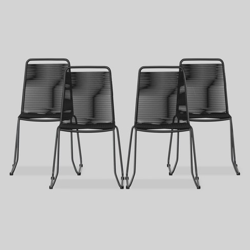 Cadima 4pk Metal Outdoor Patio Dining Chair Charcoal Project 62