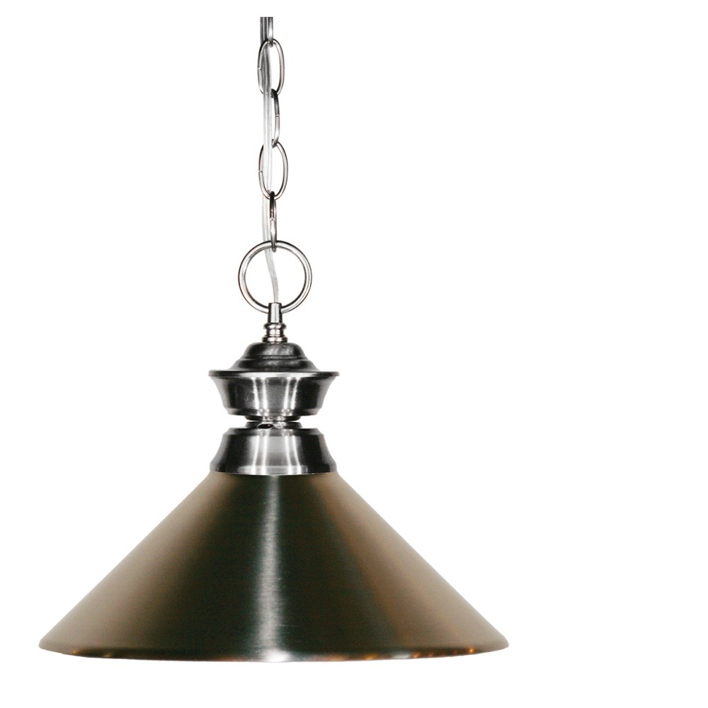 Pendant with Brushed Nickel Glass Ceiling Lights - Z-Lite