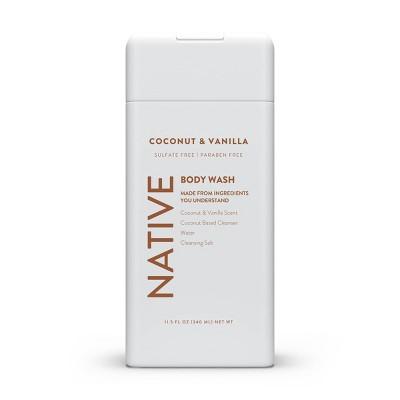 Native Coconut & Vanilla Body Wash for Women - 11.5oz
