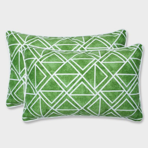 2pk Lanova Palm Rectangular Throw Pillows Green - Pillow Perfect - image 1 of 3
