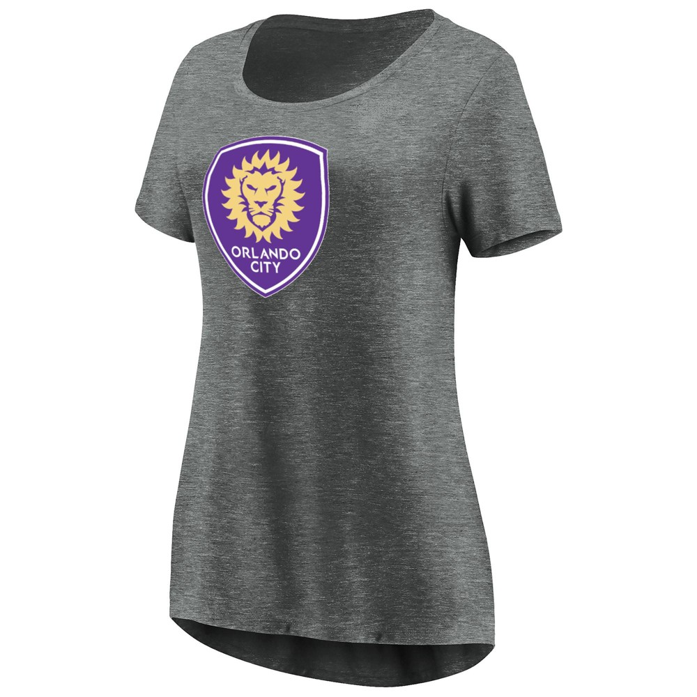 Mls Women's Short Sleeve Scoop Neck T-Shirt Orlando City SC - S, Multicolored