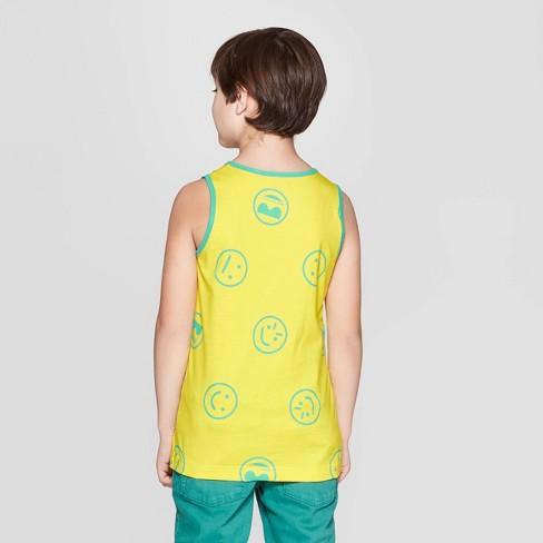 f5c36413 Boys' Emoji Graphic Tank Top - Cat & Jack™ Yellow : Target