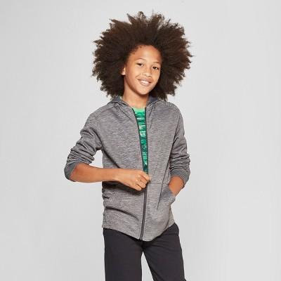 6d7dfa17a4ba Boys  Textured Tech Fleece Full Zip Hoodie - C9 Champion ®