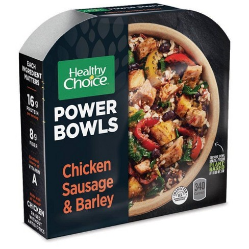 Healthy Choice Power Bowl Frozen Chicken Sausage & Barley - 9oz - image 1 of 3