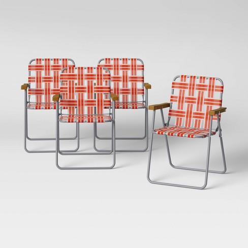Webstrap Patio Folding Chair - Lava - Room Essentials™ - image 1 of 4
