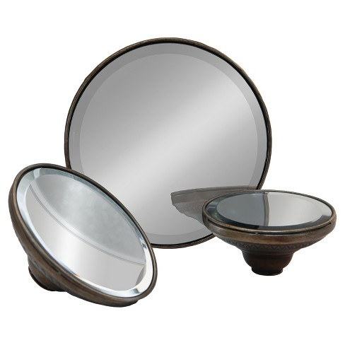 Metal Decorative Mirror Set Silver 3pk - VIP Home & Garden - image 1 of 1