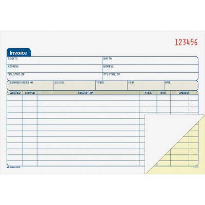Carbonless Adams Sales Order Book 4 Pack 4-3//16 x 7-3//16 inches 50 Sets per Book DC4705 White//Canary 2-Part