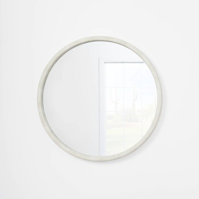 """30"""" Faux Shagreen Round Mirror - Threshold™ designed with Studio McGee"""