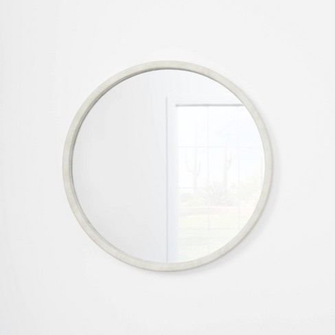 """30"""" Faux Shagreen Round Mirror - Threshold™ designed with Studio McGee - image 1 of 4"""