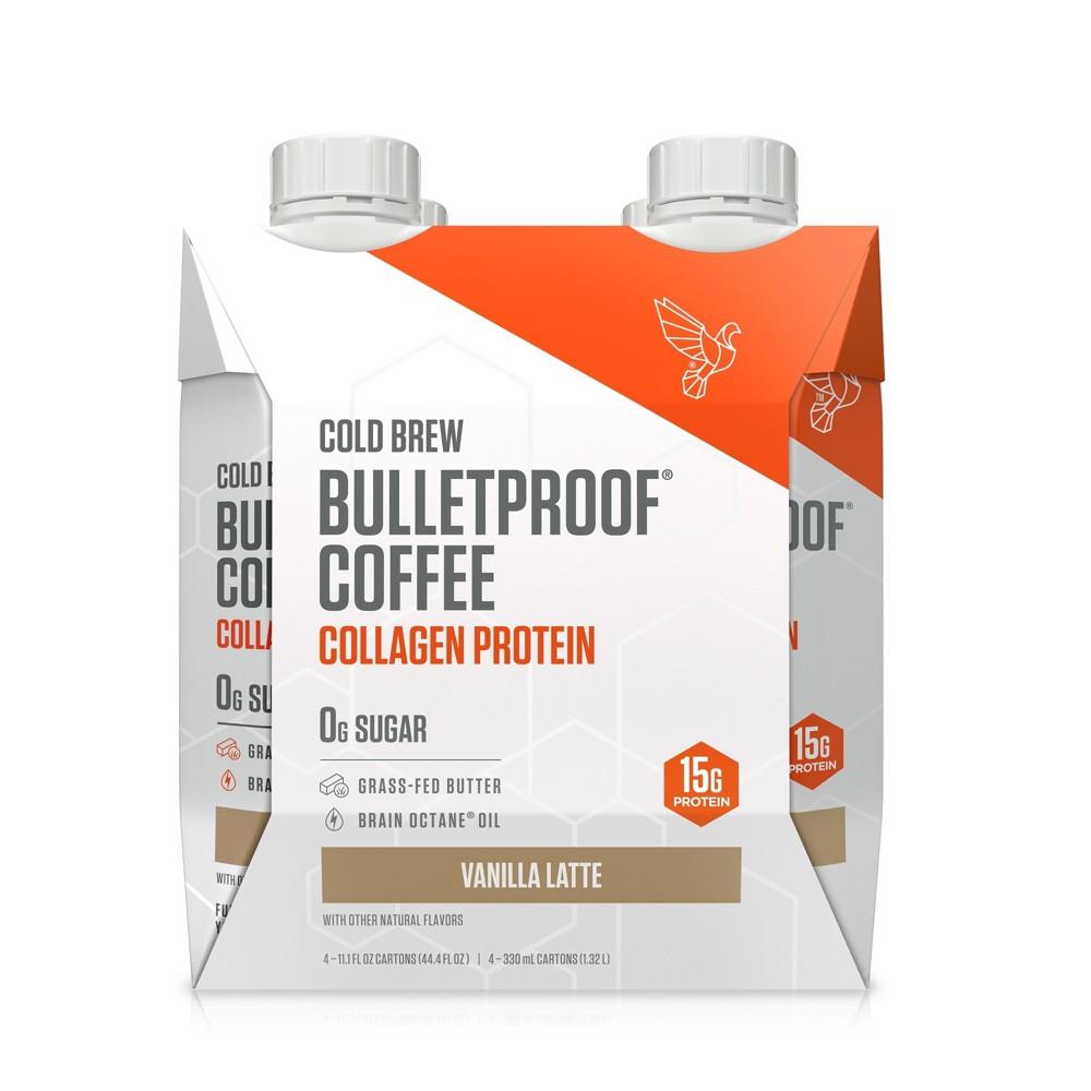 Bulletproof Coffee Collagen Protein Drink - Vanilla Latte - 11 fl oz/4pk