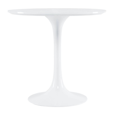 Grant Contemporary Round Wood Top Dining Table White - Poly & Bark - image 1 of 4