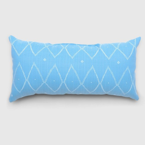 Oversize Lumbar Sayulito Outdoor Pillow Blue - Opalhouse™ - image 1 of 1