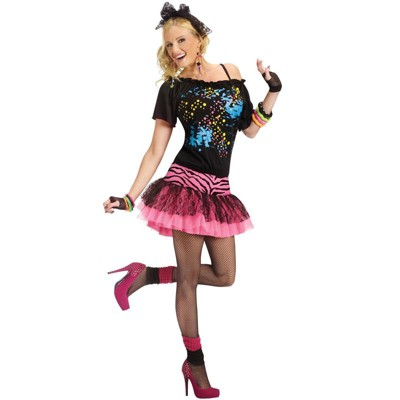 Fun World 80's Pop Party Adult Costume