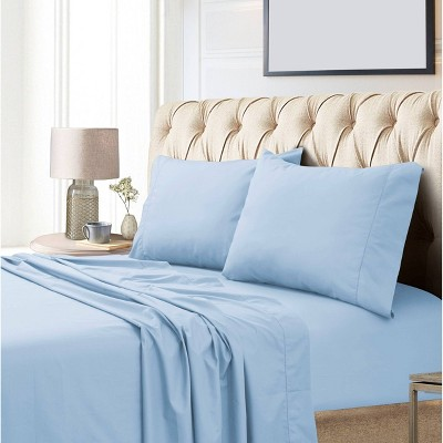 King 800 Thread Count Extra Deep Pocket Sateen Sheet Set Blue - Tribeca Living