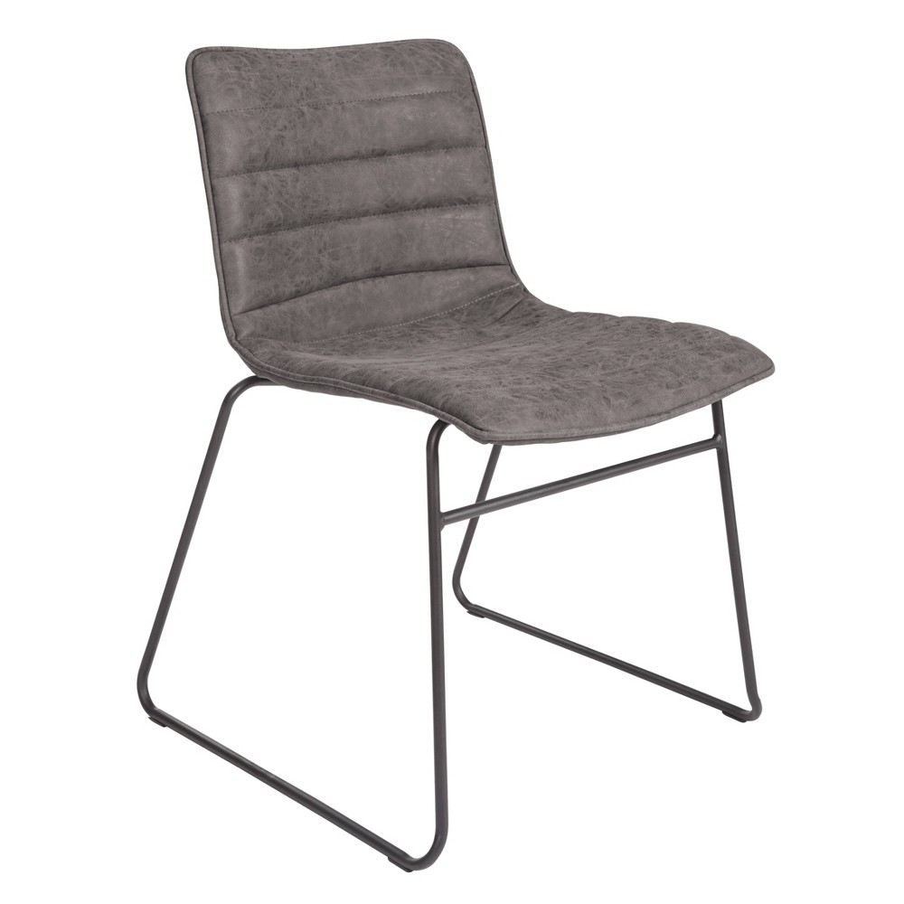 Set of 2 Halo Stacking Chair Gray - Osp Home Furnishings