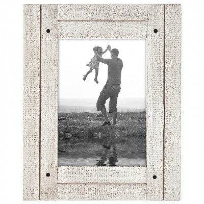 Collage Picture Frame in with Three Displays Textured Wood and Polished Glass for Wall and Tabletop