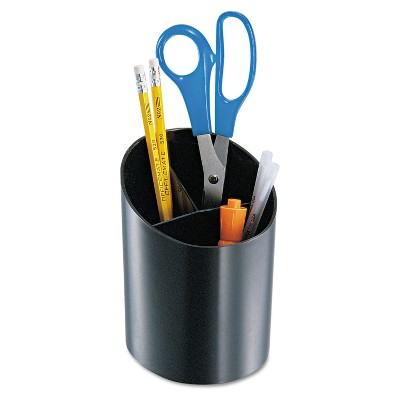 Officemate Recycled Big Pencil Cup 4 1/4 x 4 1/2 x 5 3/4 Black 26042