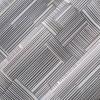 Tatsu Modern Grid Semi-Sheer Grommet Curtain Panel Gray - No.918 - image 3 of 4