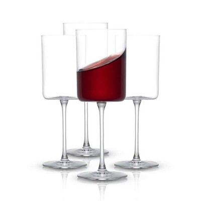 JoyJolt Claire Crystal Red Wine Glasses –  Set of 4 - 14-Ounce Wine Glass Set