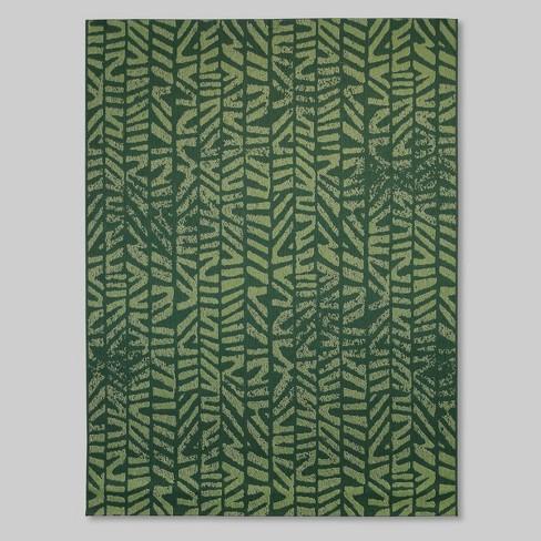 Tonal Outdoor Rug Green - Opalhouse™ - image 1 of 2