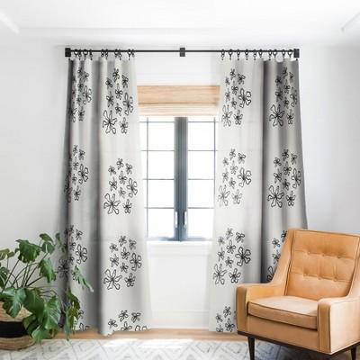 Alisa Galitsyna Dancing Flowers Single Panel Blackout Window Curtain - Society6
