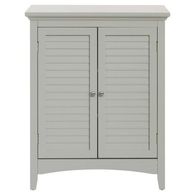 Glancy Double Door Floor Cabinet 32  Gray - Elegant Home Fashions