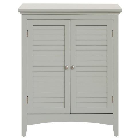 """Glancy Double Door Floor Cabinet 32"""" Gray - Elegant Home Fashions - image 1 of 4"""