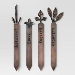 "4pk 8"" Iron Herb Marker Copper Brown - Smith & Hawken™"