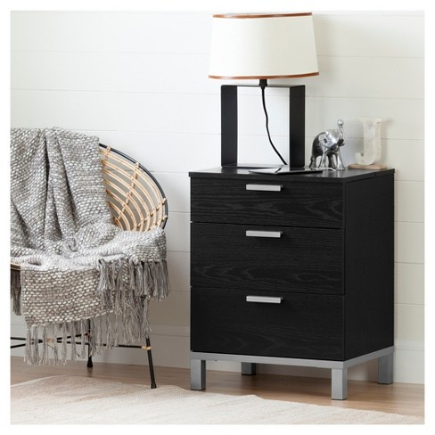Flexible Nightstand with Charging Station and Drawers - South Shore - image 1 of 4
