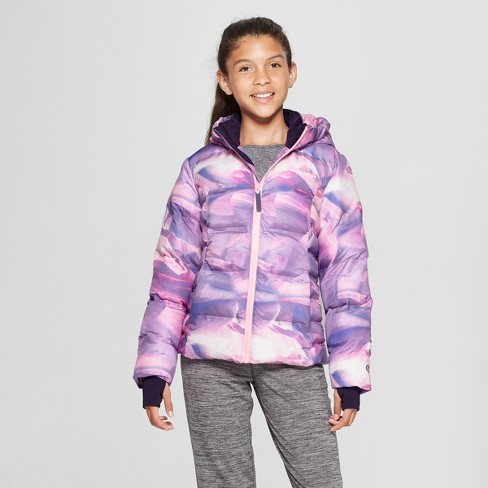 a7055928d Girls  Printed Puffer Jacket - C9 Champion® Purple   Target