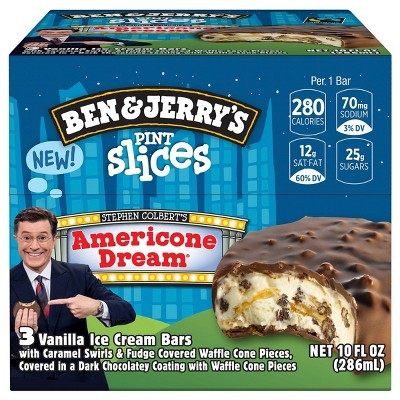 Ben Jerry S Pint Slice Americone Dream Ice Cream Bars 3ct 10oz Target We compared half a cup of vanilla from six popular store brands to see the calories, fat and sugar every freezer section of every american grocery store is stockpiled with tons of flavors, brands and ice cream. ben jerry s pint slice americone dream ice cream bars 3ct 10oz