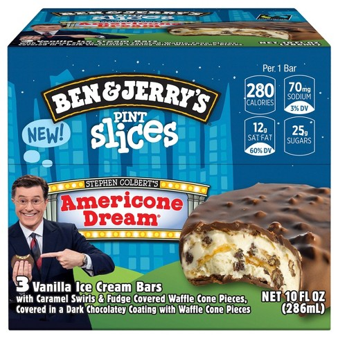 Americone Dream Pint Slices Nutrition / Pint slices are just like they sound—slices of your favorite super premium ice cream pint flavor dipped in dark chocolate.