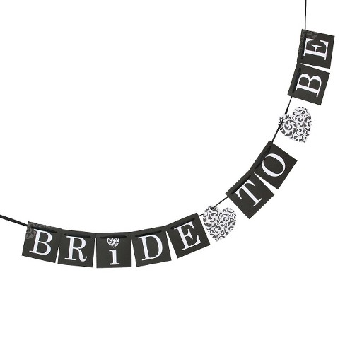 "Hortense B. Hewitt Bride-to-Be Banner Cards - 11- 4"" x 4"" - image 1 of 1"