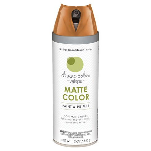 Devine Color Spray Paint by Valspar - Devine Cinnamon, Terracotta Orange  Matte Finish - 12 oz Aerosol