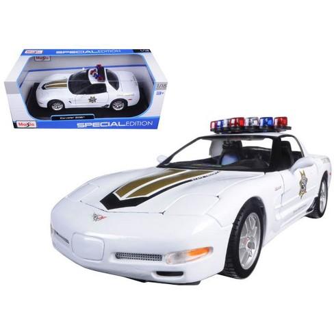 Chevrolet Corvette C5 Z06 Police 118 Diecast Model Car By Maisto