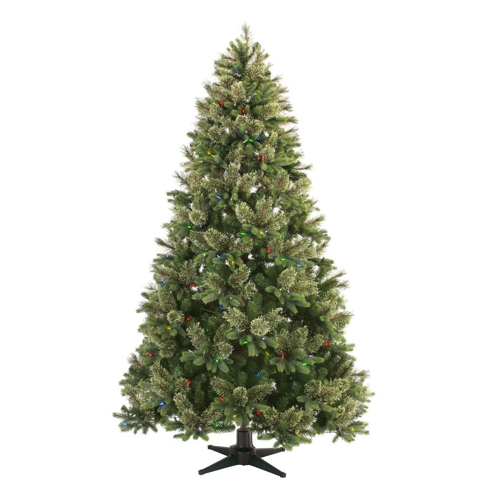 Image of Philips 7.5ft Full Pre-lit Artificial Christmas Tree Balsam Fir Auto Connect with Remote Control Clear LED Lights, Green