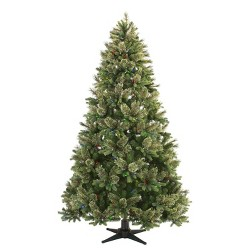 Philips 7.5ft Full Pre-lit Artificial Christmas Tree Balsam Fir Auto Connect with Remote Control Clear LED Lights