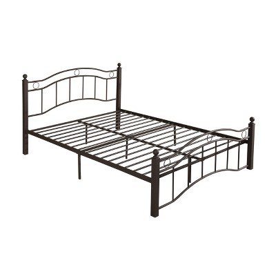 Queen Bouvardia Modern Contemporary Iron Bed - Christopher Knight Home