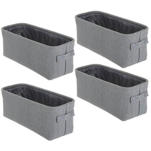 mDesign Cotton Fabric Bathroom Storage Organizer Bin - image 1 of 4