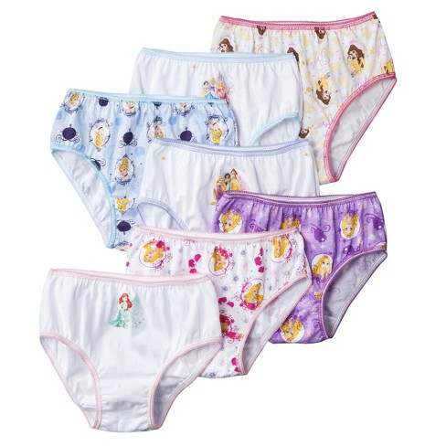 Girls' Disney Princess® 7pk Classic Briefs - Orchid - image 1 of 1