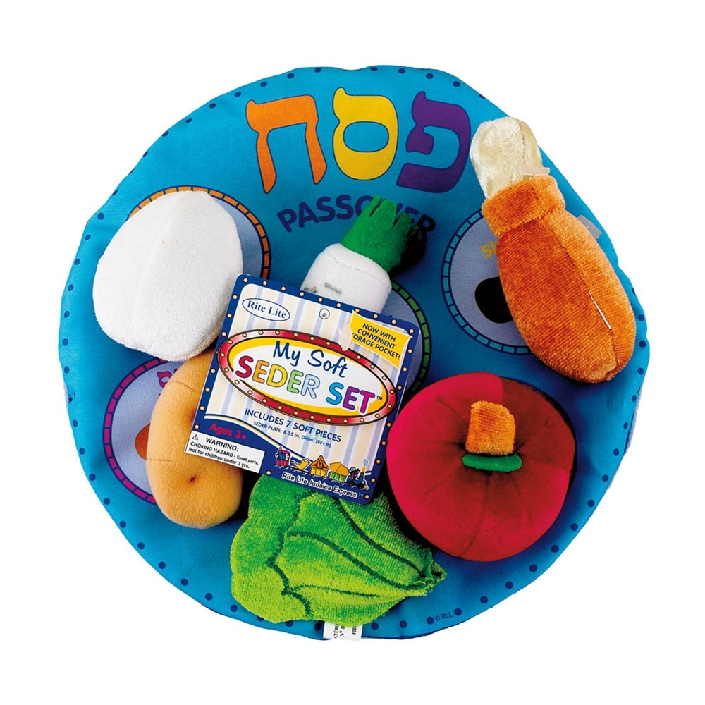 Image of Shulsinger Judaica Plush Play Food Activity Set