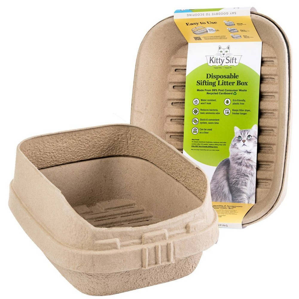 Kitty Sift Disposable Sifting Cat Litter Box L