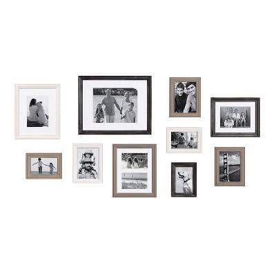 10pc Bordeaux Frame Box Set - Kate & Laurel All Things Decor