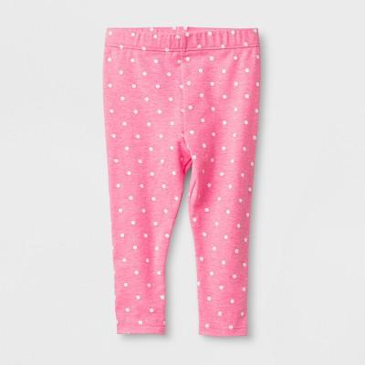 Baby Girls' Leggings - Cat & Jack™ Pink Dot 12M