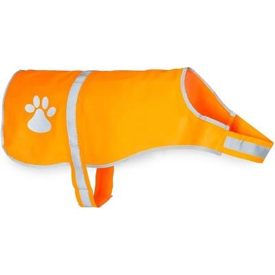 Okuna Outpost Reflective Dog Harness, Orange Safety Vest, Size Large