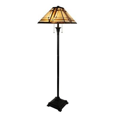 Tiffany Style Floor Lamp-Mission Design Art Glass