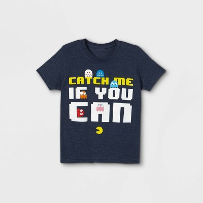 Boys' Pacman Catch Me If You Can Short Sleeve Graphic T-Shirt - Blue